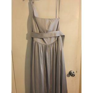 Vera Wang Silver Bridesmaid Dress